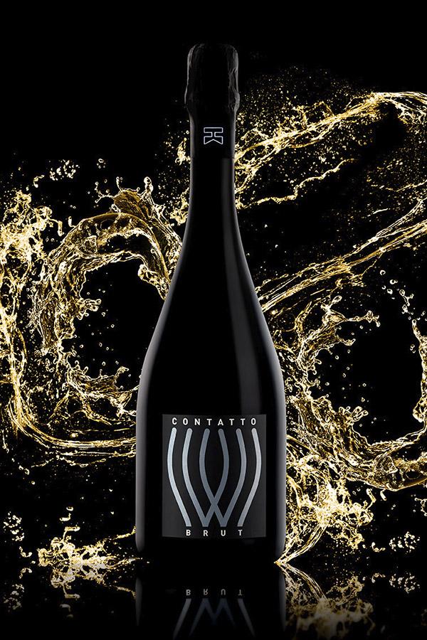 splash of juice isolated on black background. beautiful splash o